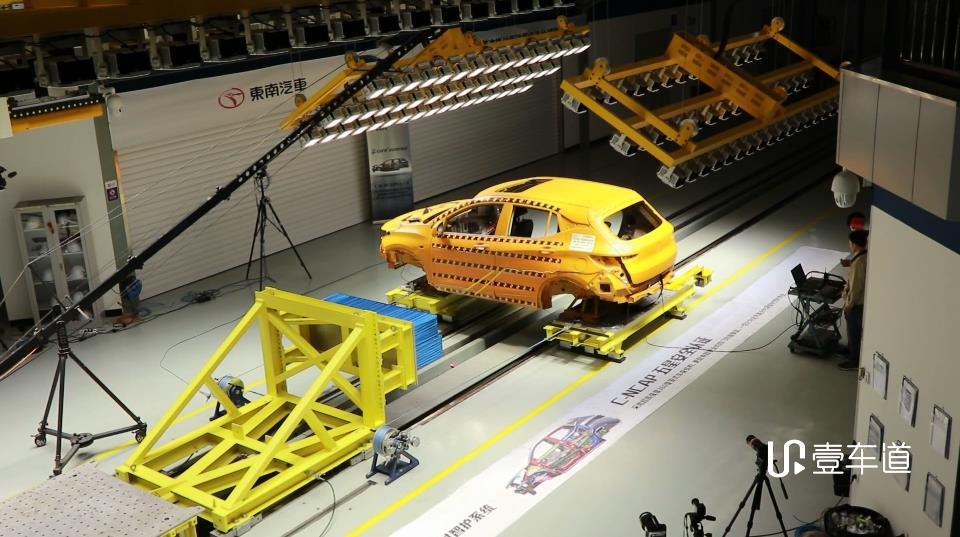 国内首曝汽车侧面碰撞滑台测试 东南DX3成绩亮眼